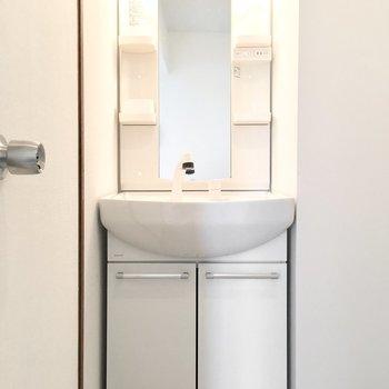 洗面台はシャンプードレッサー。
