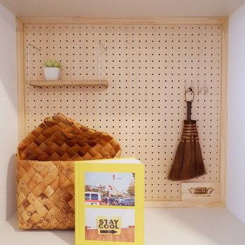 【イメージ】有孔ボードは色々飾れて楽しい空間に※写真は反転間取り、別部屋の写真です