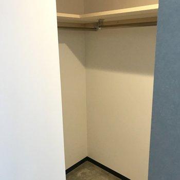 収納は扉はありません、でも広い!