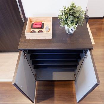 靴箱は控えめ。選び抜いた靴をしまいましょう。※家具はサンプルです※写真は10階の同間取りのお部屋