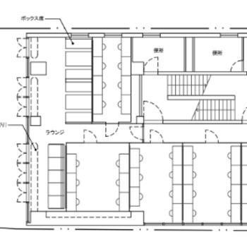 2階は3~6人以上の個室ブース※図面は変更になる可能性がございます