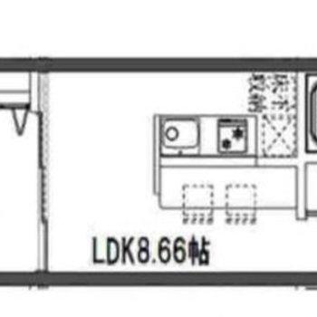 収納豊富な1LDKのお部屋です