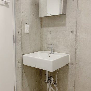 洗面台はシンプル。でも十分な大きさ。