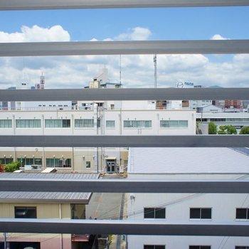 柵で眺望はさえぎられています※写真は同タイプの別室。