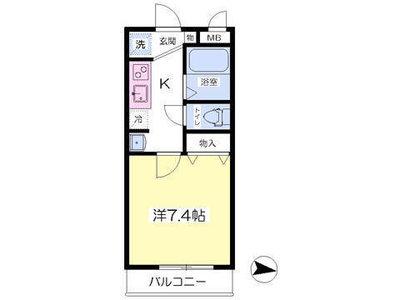 武蔵境8分アパート の間取り