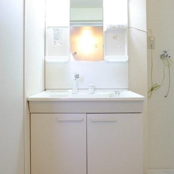 洗面台も交換済み※クリーニング前の写真です。