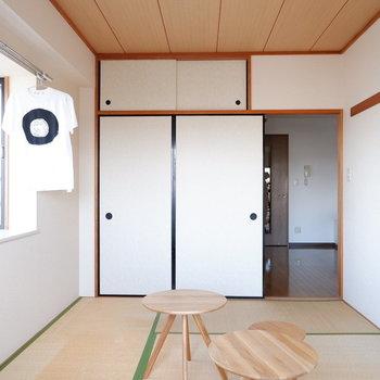 【和室】和室洋風の家具を置くのも今風でかわいいです(※写真は4階の反転間取り別部屋のものです)