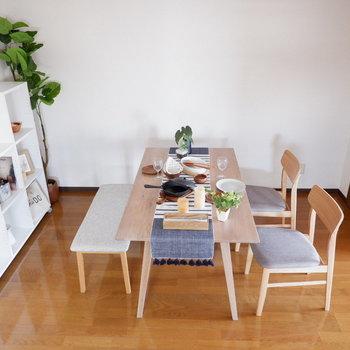 【LDK】ダイニングテーブルはこの位置が良さそうですね(※写真は4階の反転間取り別部屋のものです)