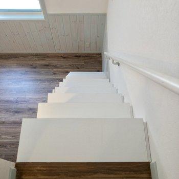 【ロフト】階段を降りて、水回りを見ていきましょう。