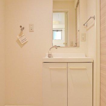 広めの洗面所。※写真は同タイプ別部屋。
