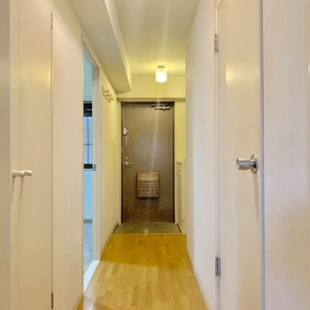 【工事前】廊下も無垢床に。