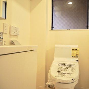 トイレの後ろには大きめの窓が