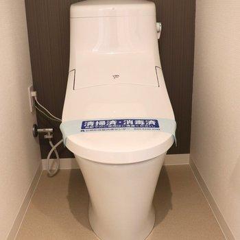 前が広いのでゆっくりできるトイレ