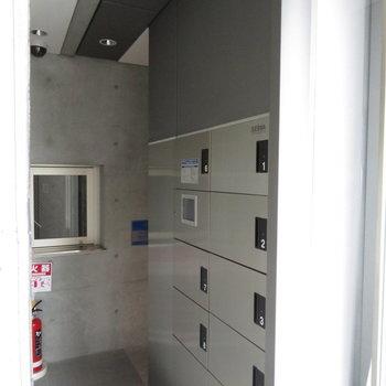 宅配BOXはなんと19台設置