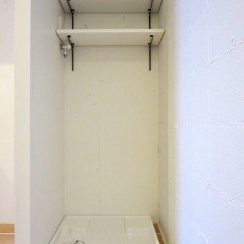 洗剤などが置ける棚があるの、助かります◎