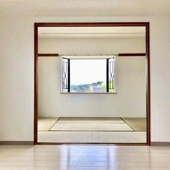 和室と景色が素敵なお部屋です。