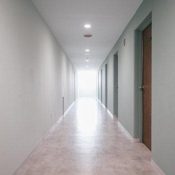 各階で廊下の色も違います!※写真は前回募集時のものです