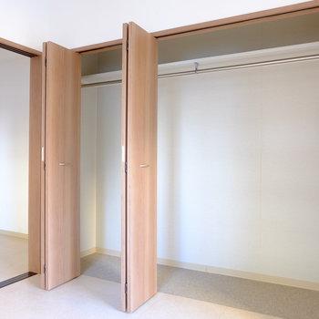 お二人入居でも足りる収納スペース(※写真は2階の同間取り別部屋のものです)