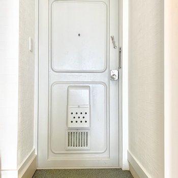アイスグレーのドアがカワイイんです