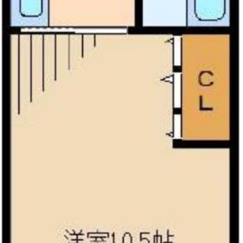 10.5帖のお部屋はかなり広く感じますよ〜