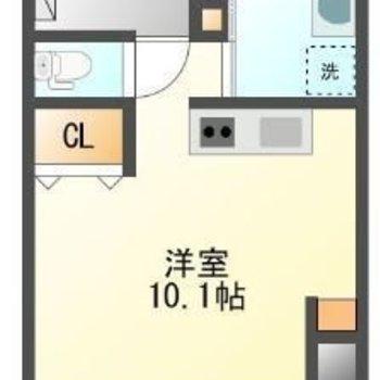 贅沢なサンルーム付きのワンルームです。