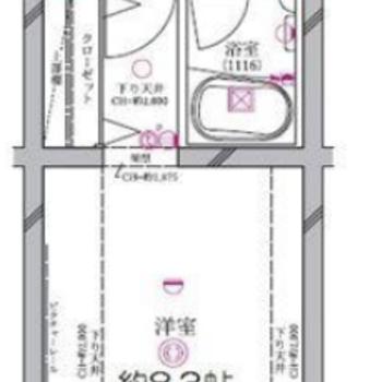 家具を置きやすい四角いお部屋。