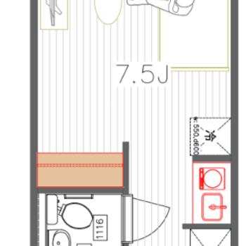居室も広さがあり使いやすい1R♪