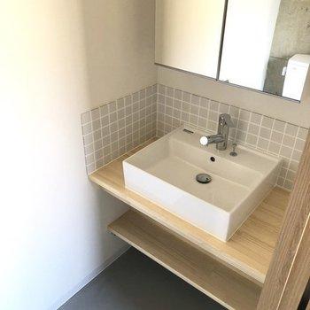 【7階ラウンジ】ナチュラルスタイルの洗面もお洒落