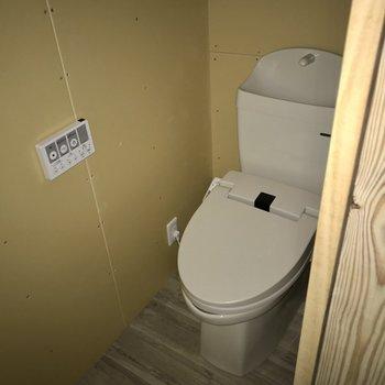 トイレはウォシュレット付き!(※フラッシュ撮影しています)