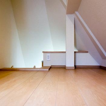 天井は低めですが、お休みするには十分なスペースがあります。