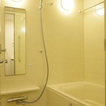 浴室乾燥機能付き。