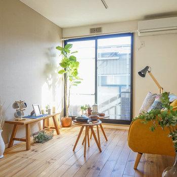 【イメージ】実際のお部屋は二面採光、日当たりいいんです
