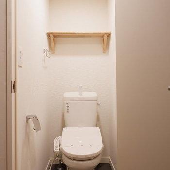 【イメージ】洗面台・洗濯機置き場と同じ空間の脱衣所にトイレが配置されます