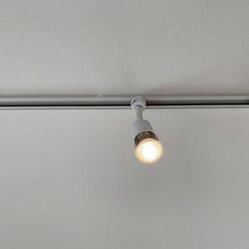ライティングレールとスポットライト すきな照明器具を追加で付けれますよ〜