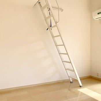 ロフトへのはしごはしっかりしています!