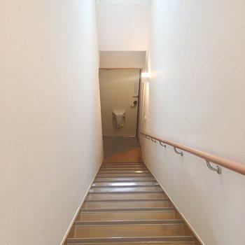 お部屋は2階にあります