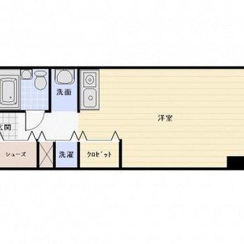 ワンルームのお部屋です。