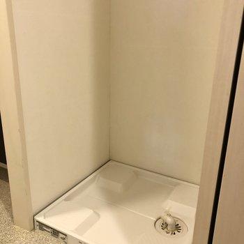 洗濯機置き場はこんな感じ。