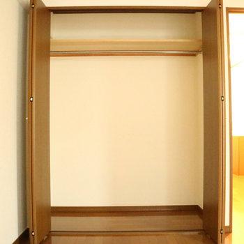クローゼット、大きいんです!※写真は1階の同間取り別部屋のものです