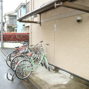 駐輪場付きはうれしい!