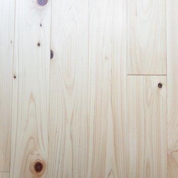 ヒノキの木目が優しい※写真は前回募集時のものです