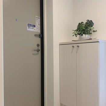玄関はすっきりと