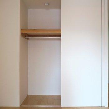 収納は少し小さめ。(※写真は3階の同間取り別部屋のものです)