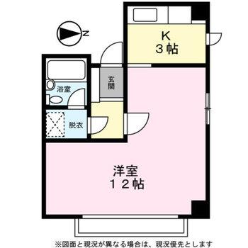 L字の居室が特徴的。