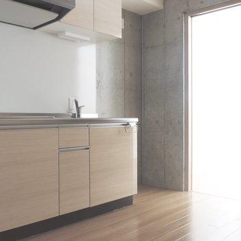 【DK】奥に冷蔵庫置場があります※フラッシュを使用して撮影にしています