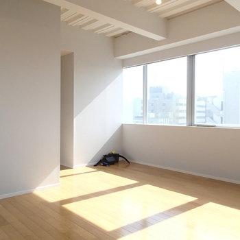 太陽の光が…!※写真は9階の同間取り別部屋のものです