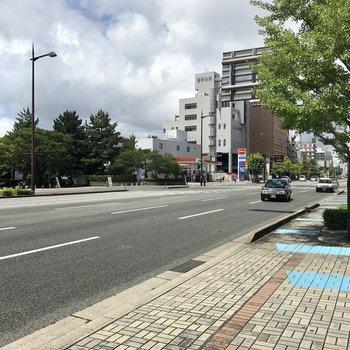明治通りにはおなじみ大濠公園があって福岡市民のいこいの場所。