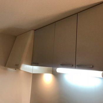 大きめの換気扇と収納※写真は2階の反転間取り別部屋のものです