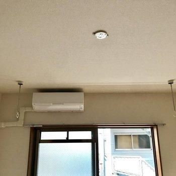 物干し竿を掛けられます※写真は2階の反転間取り別部屋のものです