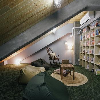 屋根裏のようなリラックスルーム♪※写真は前回募集時のものです